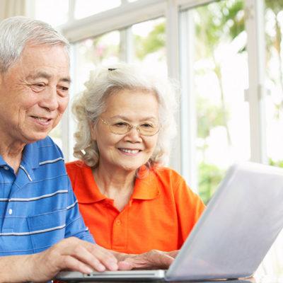 Senior citizen online safety