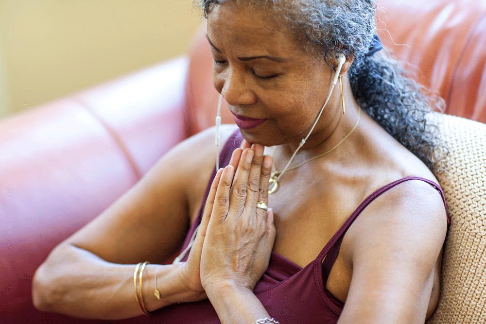 Canadian Senior Woman Practicing Self Care